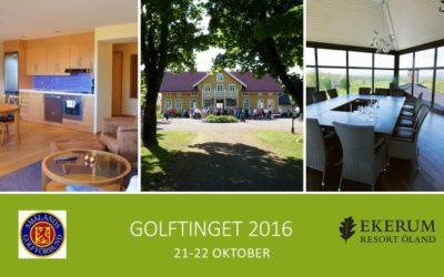 Inbjudan till Golftinget 2016
